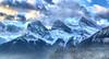 Three Sisters Mountain, Alberta, Canada - p1333 (photos by Bob V) Tags: mountains rockies rockymountains canadianrockies alberta albertacanada banff banffpark banffnationalpark banffalberta banffalbertacanada panorama mountainpanorama threesisters threesistersmountain