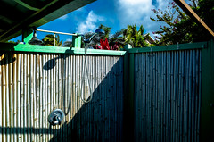 Tropical Shower (Patricia Colleen) Tags: outdoorshower maui paia spyti