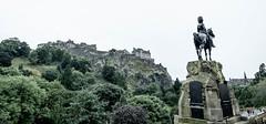 Royal Scots Monument (spcoonley) Tags: fujifilm fuji xe2 xf14mmf28 edinburgh castle scotland royal scots monument princes street