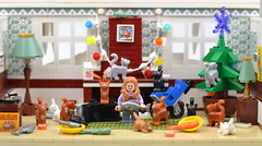 Merry Christmas From The Cat Lady (MinifigNick) Tags: cat cats lady lego afol