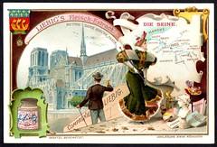 Liebig Tradecard S733 - The Seine (cigcardpix) Tags: tradecards advertising ephemera vintage chromo liebig france