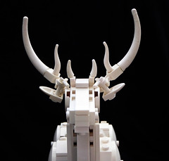 Stag sculpture - head detail (Magma guy) Tags: lego stag sculpture animal white monochrome harry potter expecto patronum december happy merry christmas rudolf rudolph what