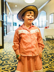 Happy Cowgirl (mtfbwy) Tags: upsideofdowns party liliana christmas cute kid costume cow girl happy child