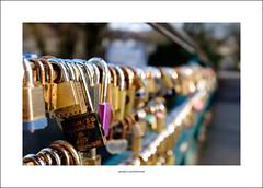 The Bakewell bridge love lock collection (Descended from Ding the Devil) Tags: bakewell dof derbyshire beyondbokeh bokeh bridge depthoffield lovelock photoborder selectivefocus