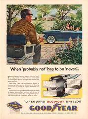 1956 Goodyear Tire Blowout Shields Advertisement Time Magazine June 25 1956 (SenseiAlan) Tags: 1956 goodyear tire blowout shields advertisement time magazine june 25