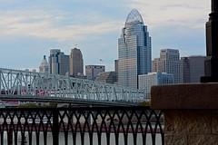 Cincinnati early evening (durand clark) Tags: cincinnati newportonthelevee duskatcincinnati centralbusinessdistrict nikond7100