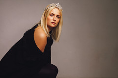 "Series ""Queens"" - Kathrin (absimilard) Tags: queen studio girl woman elegant crown diamonds"