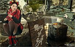 Look # 999 Merry and Bright 1 (Kamila Stoanes) Tags: phoenix catwa hair head headmesh avenge applier freckless queenofink makeup veechi kibdesigns coat cold scarf kc boots ersch accessories homegarden objects