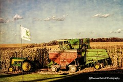 JD Harvest scene (Thomas DeHoff) Tags: corn combining john deere combine fall harvest topaz effects illinois sony a700
