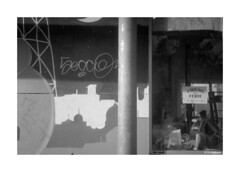 Kiev 4 - Jupiter 12 - Delta 400 (dcanalogue) Tags: kiev киев classic vintage 35 mm rangefinder rf telemetro film camera jupiter юпитер 12 lzos zavod arsenal f28 60s ilford delta professional 400 iso ilfotech ddx developer agfa rondinax system cityscape urban landscape red oktober black white photography developed development ishootfilm isf filmisnotdead filmforever filmonly find renaissance blog post test review lightmeter classicblackwhite bwfp dc analogue donato chirulli kmz accessory external viewfinder soviet commie comunist ussr russian cccp fsu rome