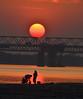 Lovely Sunset (RoB_Geo) Tags: bridge washing bloodred sun silhouette 55300mm nikon nikond5100