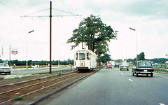 Once upon a time - Belgium - From the windscreen (railasia) Tags: belgium flanders antwerpen merksem nmvbsncv metergauge routen63 motorcar classs infra doubletrack freecourse sixties