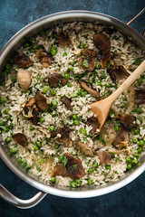 Bone Broth Risotto with Mushrooms & Crispy Shallots (WillCookForFriends) Tags: bone broth risotto kettle fire recipe will cook friends food styling photography mushroom shallots crispy