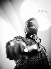 A fistful of fuck yous. (von8itchfisk) Tags: death killer assassin worlddominationselfie worlddomination gun heat hit whack job blackandwhite monochrome silver vonbitchfisk battisford candy candyman roy orbison portrait