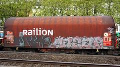 Graffiti in Köln/Cologne 2015 (kami68k -all over-) Tags: köln cologne 2015 graffiti illegal bombing train freight chrome open mazar 80countrycode ddb dbcargo railion