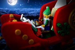 Merry Christmas to All... (TFDesigns!) Tags: lego christmas story north pole santa cyclops slimestars philmore norbert arc bot toy card flying elf cat fluffy billund