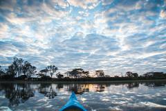 Sunrise from a boat - Duck Inn Malawi