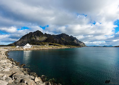 Turquoise and Blue (Grand Mookster) Tags: travel sea blue turquoise lofoten honningsvaer nikon d610 sky cloud norway