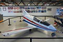 Bede BD-5J Microjet @ Santa Monica Museum of Flying 26th July 2015 (_Illusion450_) Tags: smo ksmo santamonicaairport santamonicamunicipalairport cloverfield santamonicamuseumofflying museumofflying california museum losangeles 260715 santamonicamuseum flying aircraft bede bd5 jamesbond octopussy