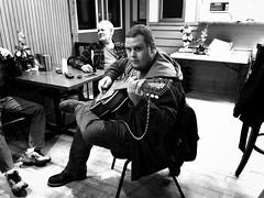 Guitar Player (Kevin VanEmburgh Photography) Tags: street guitar musician black white monochrome iphone iphoneography rural bar tavern honkytonk music guitarplayer whiteandblack stories shotstories