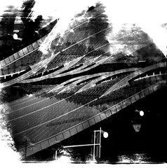 [Holga e le Sue Sorelle] Sky Way (Urca) Tags: holgalomo2201611120010 italia valledaosta skyway courmayeur holga lomo doppiaesposizione doubleexposure analogico 120 6x6 square medium multi biancoenero blackandwhite bn bw