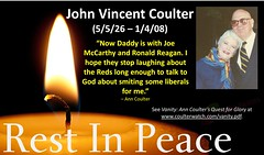 RIP John Vincent Coulter (CoulterWatch) Tags: anncoulter coulter rip johnvcoulter eulogy