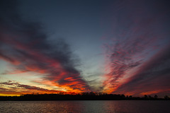 Sunset at Creve Coure Lake (adamopal) Tags: canon canon5d canon5dmkiii canon5dmarkiii sunsetcolors sunset gloriuscolors lake evening crevecourelake crevecoure crevecouremo crevecouremissouri outside red blue yellow grey