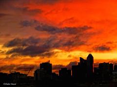 Lever de soleil apocalyptique sur la Défense (didier95) Tags: leverdesoleil ladefense tour architecture ciel rouge iledefrance