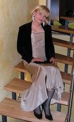On stairs (Marie-Christine.TV) Tags: feminine transvestite lady mariechristine ballgown ballkleid partykleid tgirl gurl weiblich elegant