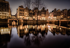 Night Amsterdam (Dmitry_Pimenov) Tags: architecture awesome amsterdam holland netherlands netherland europe europa city cityscape citta urban reflection water river canal building outdoor outdoors travel trip bridge dipimenov dmitrypimenov fujifilmxt1 fujifilm дмитрийпименов амстердам европа отражение ночь night
