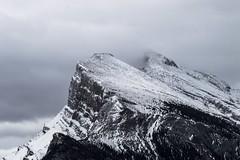 Peak (corybeatty) Tags: canada light banff national park fog peak mt rundle mountain mountains nature landscape snow autumn winter nikon