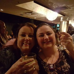 Lisa and I continue to celebrate.... Feminism, midwifery, surviving the study year! (transcendancing) Tags: midwives celebration graduating feminism study midwifery reflection