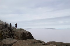The cloud under the line of the mountains (daveynin) Tags: cloud mountain fog climb nps trail granite shenandoah shenandoahnationalpark oldrag rockscramble deaftalent deafoutsidetalent deafoutdoortalent