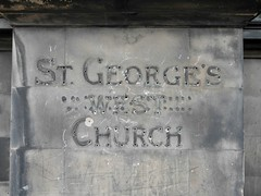 St George's West Church (the justified sinner) Tags: old west church sign stone scotland edinburgh stgeorges lothian justifiedsinner