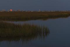 KMW_2599a (Kate Marsh Weatherall) Tags: orange reflection bay moonrise atlanticcity
