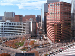 """United Nations Park from above - Denver World Trade Center beyond • <a style=""""font-size:0.8em;"""" href=""""http://www.flickr.com/photos/34843984@N07/15360598098/"""" target=""""_blank"""">View on Flickr</a>"""
