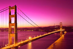 Golden Love Bridge - HDR (freestock.ca  dare to share beauty) Tags: california street city morning travel bridge pink light red sea sky urban orange usa white black building love tourism water beautiful beauty yellow loving architecture night ame