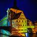 Bamberg (Bambärch), altes Rathaus, Blick auf das Rottmeisterhäuschen