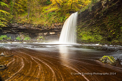 waterfall country (pixellesley) Tags: autumn trees wales forest river landscape waterfall falls breconbeacons brecon