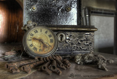 Flittermouse (Sshhhh...) Tags: wood abandoned neglect keys skeleton wooden time roman box watch bat timepiece bones dust dresser keyhole remains decayed pocketwatch numerals sshhhh flittermouse