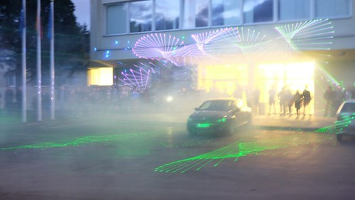 Laser show for the Day of Photonics, Lithuania