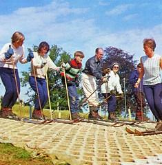 Pontins Barton Hall Holiday Camp (Torquay) - Photo from 1972 brochure (trainsandstuff) Tags: bartonhall holidaycamp torquay pontins fredpontin vintage archival devon skislope chalethotel