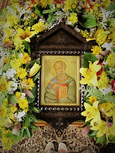 the Apostle of Love (miradel) Tags: from above flowers white man flower colour detail love me church reed colors beauty saint yellow festival standing john carpet hope gold one golden stand shoes truth day colours faith prayer innocent poland icon front na christian holy where thoughts together simplicity inside christianity colourful moment joyful simple cinematic orthodox mira beloved mystic fragment orthodoxy evangelist modlitwa apostle theologos ikona jovane iconographic święto prawdziwa stopy i wiara prawosławie prawoslawie икона terespol palcach praowsławie