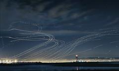 Night Air (CarbonNYC [in SF!]) Tags: sfo planes flight flights night nightshot multipleexposure carbonnyc carbonsf