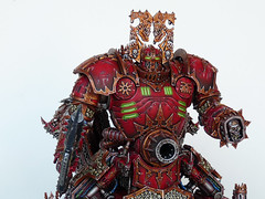 Khorne Lord of Skulls (Uruk's Customs) Tags: world skulls chaos space apocalypse lord warhammer marines gargantuan wh40k eaters daemons khorne superheavy