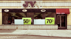 clearance sale (Vic Zhivago) Tags: geometric sign flickr quebec geometry montreal blank storefront textandimage newtopographic
