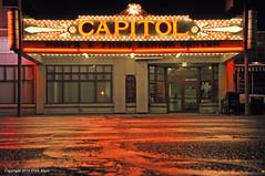 Neon At Night (Trish Mayo) Tags: reflection marquee theater neon massachusetts neonsign pittsfield movietheater moviepalace seniorcenter capitoltheater theatermarquee thebestofday gnneniyisi ralphjfroio