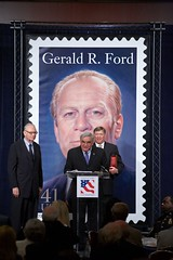 "Mary Allen and Jack Ford present Lee Hamilton with the 2007 Gerald R. Ford Medal for Distinguished Public Service • <a style=""font-size:0.8em;"" href=""http://www.flickr.com/photos/55149102@N08/15603204577/"" target=""_blank"">View on Flickr</a>"