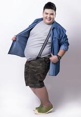เสื้อยีนส์แขนยาวผู้ชายอ้วนบิ๊กไซส์