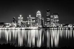 Louisville KY at night (Emmanuel RA) Tags: bw skyline night ky louisville